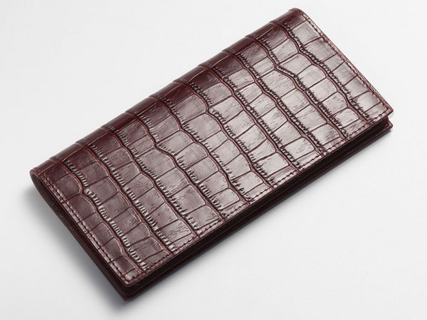 Alligator breast wallet red