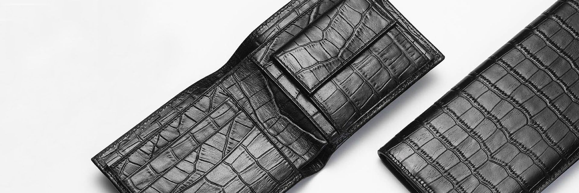 Alligator leather wallets