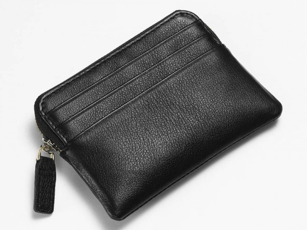 Black Textured Pouch