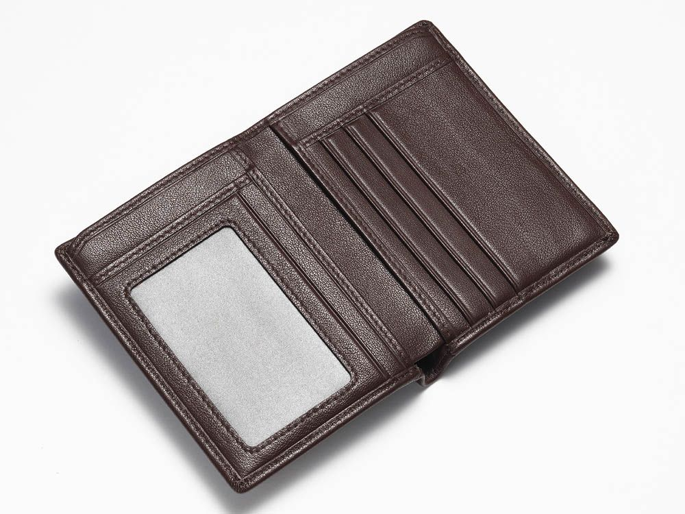 Brown Textured Card Wallet