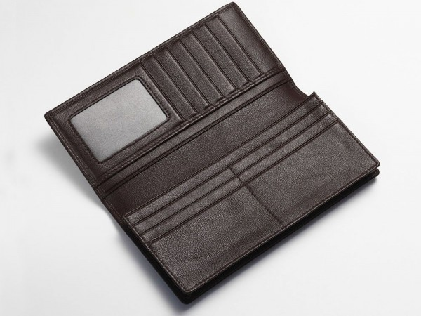 Inside breast wallet brown