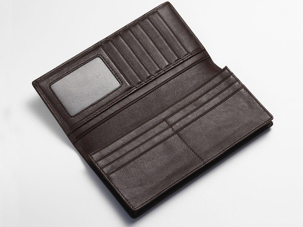 Inside breast wallet brown