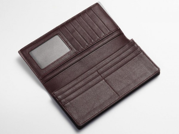 Inside breast wallet oxblood