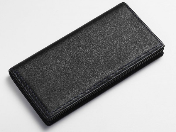 Textured breast wallet black