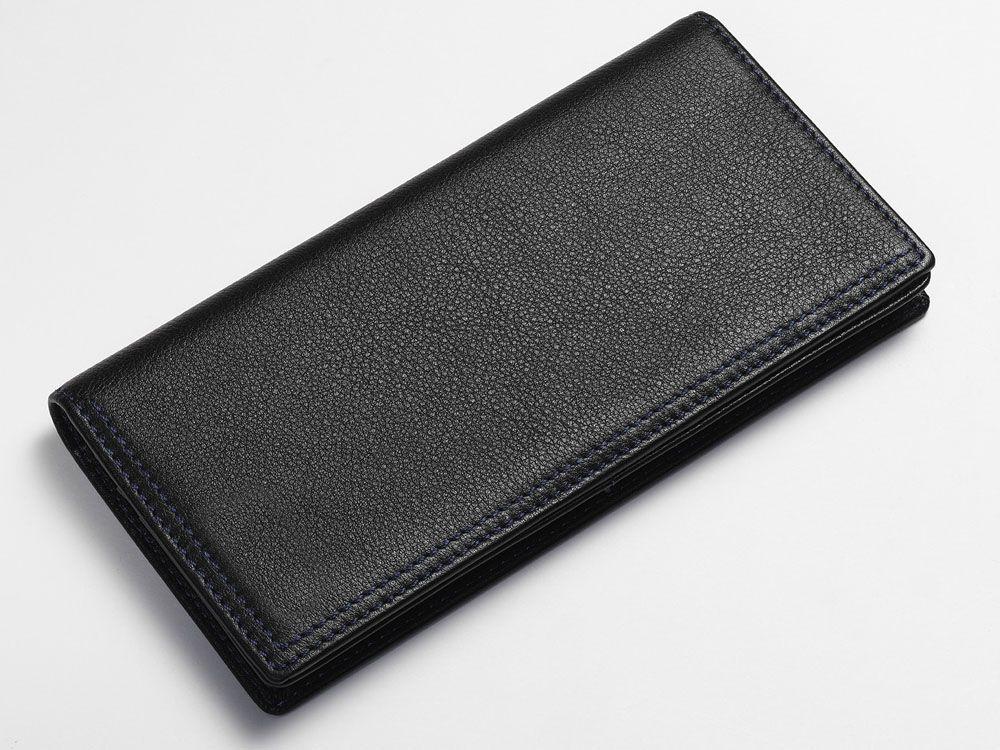 Textured breast wallet black