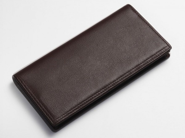 Textured breast wallet brown