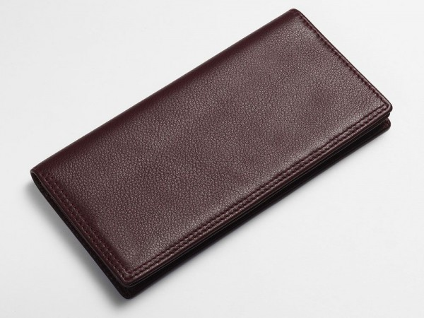 Textured breast wallet oxblood