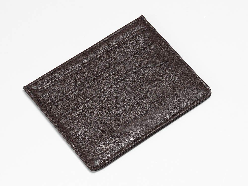Textured brown card holder